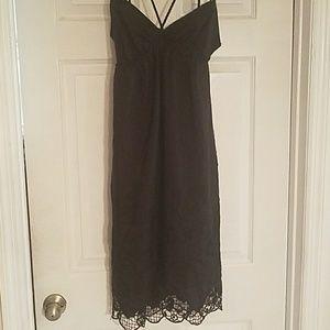 Vintage100 % Silk Black Dress